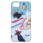 Personalized Winter Fun Skiing Labradors Case For iPhone 5C