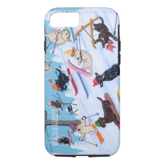 Personalized Winter Fun Skiing Labradors iPhone 8/7 Case