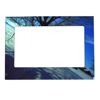 personalized/winter - magnetic picture frame