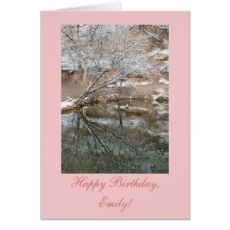 Personalized Winter Pond Birthday Card Template