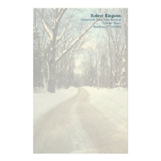 Personalized Winter Road Writing Paper