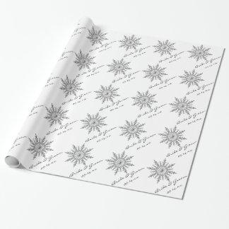 Personalized Winter Snowflake Wedding Gift Wrap