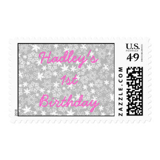 Personalized Winter wonderland Birthday Stamp