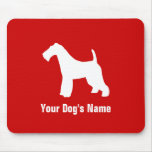 Personalized Wire Fox Terrier ワイヤー・フォックス・テリア Mousepad