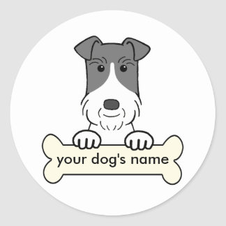 Personalized Wire Fox Terrier Classic Round Sticker