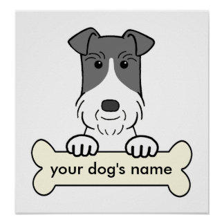 Personalized Wire Fox Terrier Poster