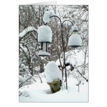 Personalized Wisconsin Wintry Snow Christmas Card