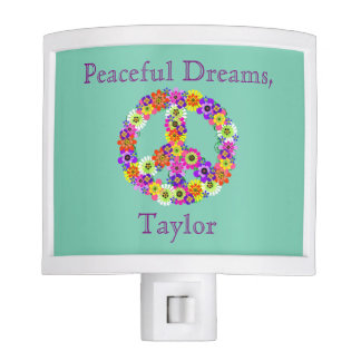 Personalized Wishing you Dreams on Aqua Night Light