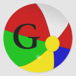 Personalized with Monogram G Beach Ball Stickers