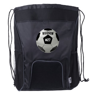 Personalized with Name Number Soccer Backpack Drawstring Backpack