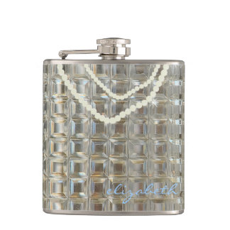Personalized With Name Wedding Bling Flask