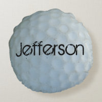 Personalized with Name white golf ball Pillows