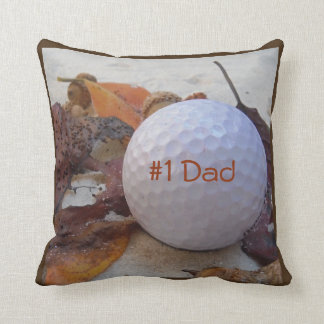 Personalized with Name Yellow golf ball Throw Pillow