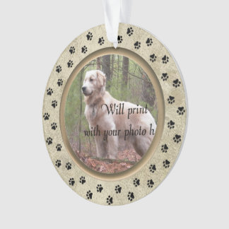 Personalized with Photo and Verse Pet Memorial Ornament