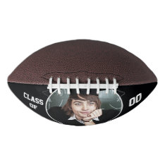 Personalized With Photo And Year Football at Zazzle