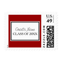 Personalized with School Colors for Graduate Postage