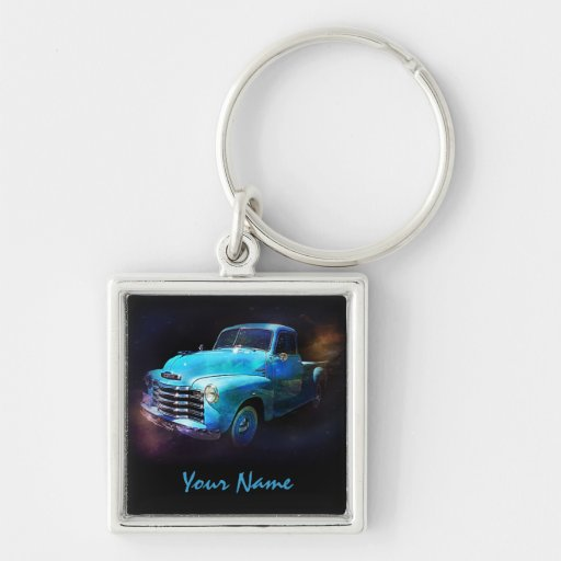 Personalized with Your Name -  Antique Truck Keychain