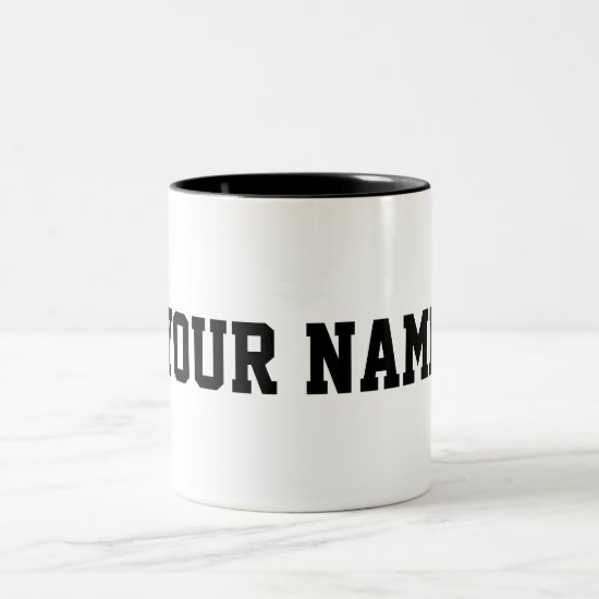 Personalized with Your Name Two-Tone Coffee Mug