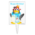 Personalized Wobble Penguin Cartoon Cake Topper