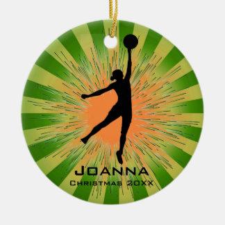 Personalized Women's Basketball Ornament