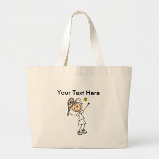 Personalized Women's Tennis Shirts Large Tote Bag
