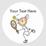 Personalized Women's Tennis Shirts Stickers