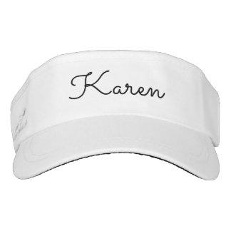 Personalized womens visor. visor