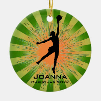 Personalized Women's Volleyball Ornament