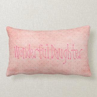 Personalized Wonderful Daughter Teen Girl Gift Joy Lumbar Pillow