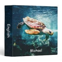 Personalized Wonderful Sea Turtle Ocean Life Binder
