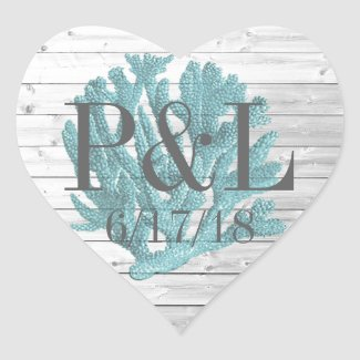 Personalized Wood and Beachy Coral Stickers