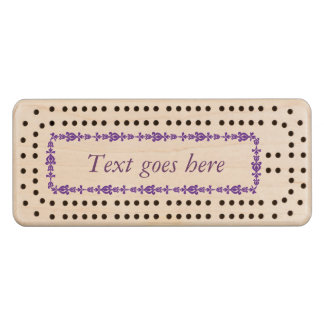 Personalized Wood Cribbage Board