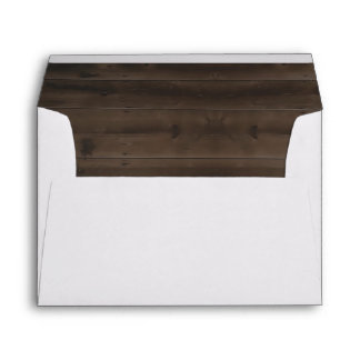 Personalized Wood Grain Background Envelope Liner