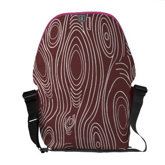 Personalized Wood Grain Pattern You Choose Colors Courier Bag