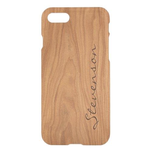 Personalized Wood Look - Walnut Wood Grain Pattern Phone Case