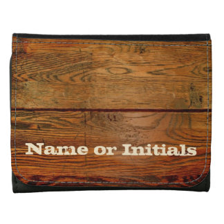 Personalized Wood Plank Wallet