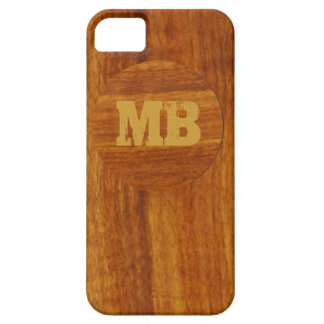 personalized wood texture iPhone 5 case