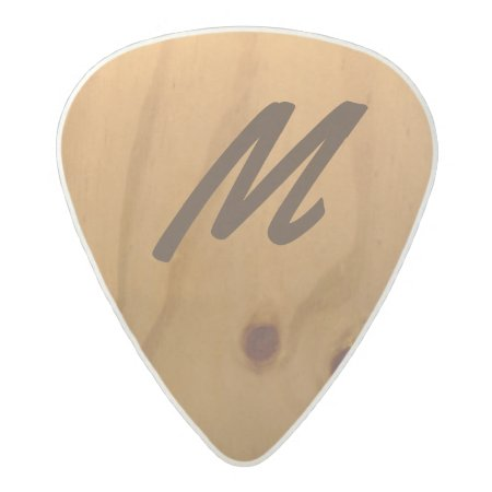 Personalized Wood Texture Rustic Acetal Guitar Pick