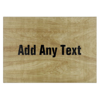 Personalized Wood Tone Glass Cutting Board