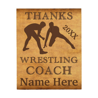 Personalized Wood Wall Art Wrestling Coach Gifts