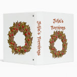 Personalized Wood Wreath Woodturning Template Binder