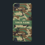 "Personalized Woodland Camo iPod Touch 5G Case<br><div class=""desc"">This unique Woodland Camouflage iPod Touch Case will look even better when personalized with a name. Made for the iPod Touch 5th Generation. Printed in the USA.</div>"