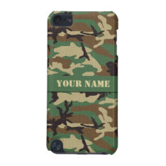 Personalized Woodland Camo Ipod Touch 5g Case at Zazzle