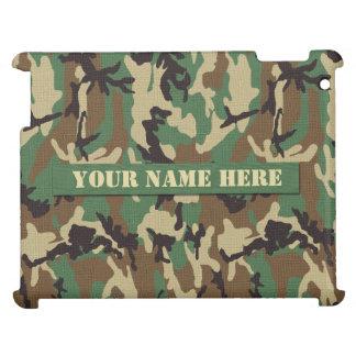 Personalized Woodland Camouflage iPad Case