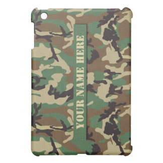 Personalized Woodland Camouflage iPad Mini Case