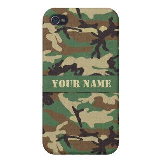 Personalized Woodland Camouflage iPhone 4/4S Case