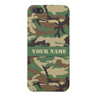 Personalized Woodland Camouflage iPhone 5 5S Case