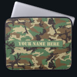 "Personalized Woodland Camouflage Laptop Sleeve<br><div class=""desc"">Protect and fit your laptop with this unique Personalized Woodland Camouflage laptop sleeve.</div>"