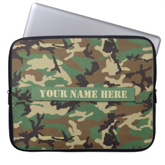 Personalized Woodland Camouflage Laptop Sleeve