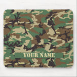 "Personalized Woodland Camouflage Mousepad<br><div class=""desc"">Show your style Woodland camouflage mousepad personalized with your own name.</div>"
